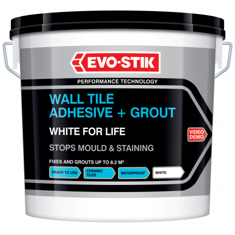EVO-STIK Wall Tile Adhesive and Grout White for Life