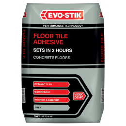 Floor tile adhesive fast set for concrete floors