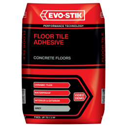 Floor tile adhesive for concrete floors