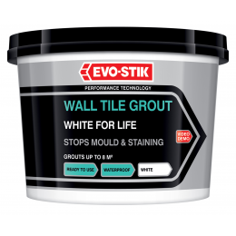 Wall tile grout white for life powder